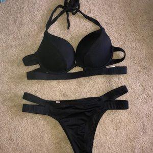 Push up halter bikini